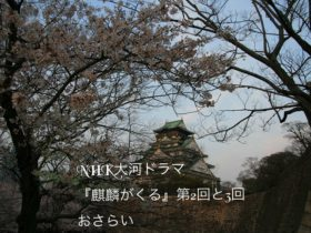 NHK大河ドラマ『麒麟がくる』2回と3回